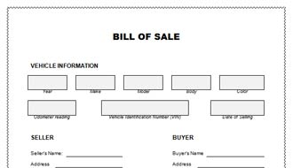 truck bill of sale template .