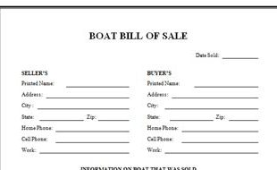 Florida bill of sale for boat and trailer for Bill of sale for boat motor and trailer in texas