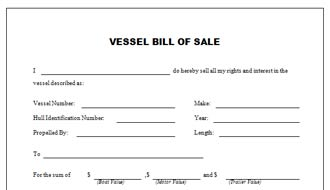The ultimate guide to motorcycle bill of sale form for Bill of sale for boat motor and trailer in texas
